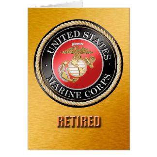 Tarjeta El USMC jubilado carda