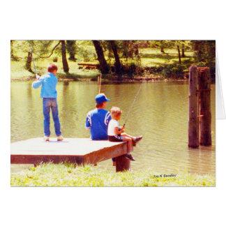 Tarjeta El verano está para pescar