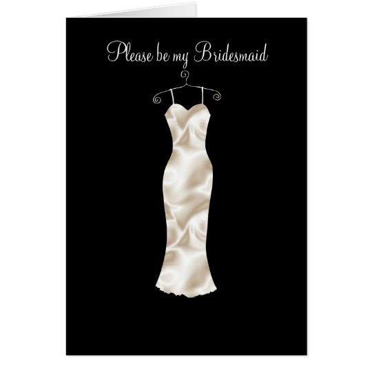 Tarjeta El vestido de marfil del satén, sea por favor mi