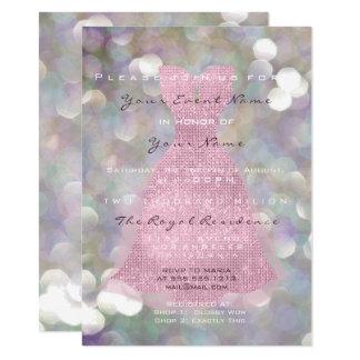 Tarjeta El vestido rosado subió el décimosexto encanto