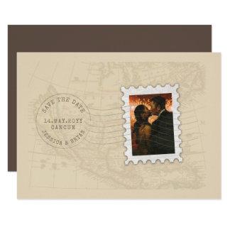 Tarjeta El viaje del sello de los matasellos y de la foto