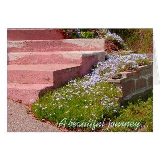 Tarjeta El viaje hermoso comienza con un solo paso - nota