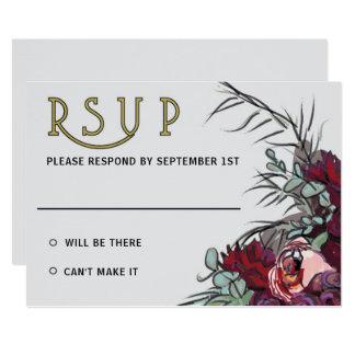 Tarjeta El Victorian florece RSVP