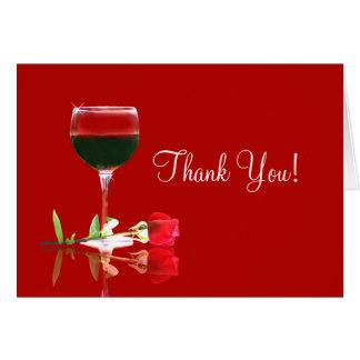 Tarjeta El vino bonito le agradece cardar, apreciado mucho