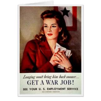 Tarjeta El vintage consigue un poster de las mujeres del