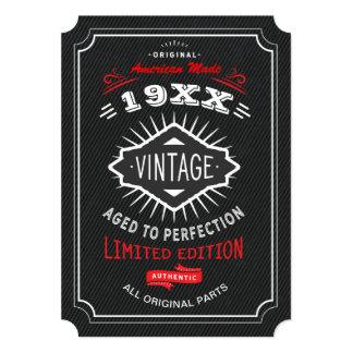 Tarjeta El vintage fiesta de 40.o, 50.o o 60.o cumpleaños