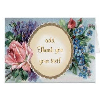 Tarjeta El vintage floral agradece le/uso su coche diario