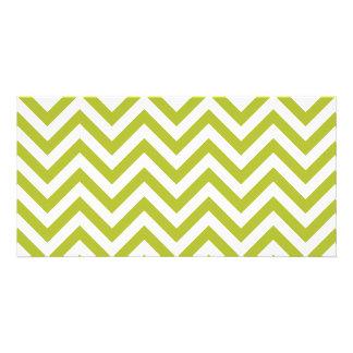 Tarjeta El zigzag verde y blanco raya el modelo de Chevron
