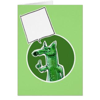 Tarjeta el zorro da a un cierto consejo el dibujo animado