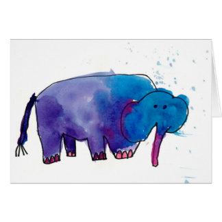 Tarjeta Elefante azul • Gracie Glaser, edad 6