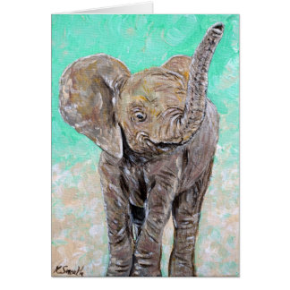 Tarjeta Elefante del bebé