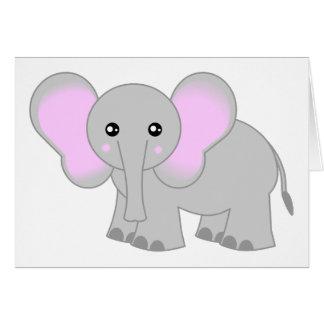 Tarjeta Elefante lindo del bebé