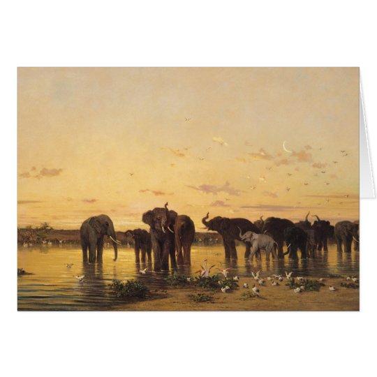Tarjeta Elefantes africanos