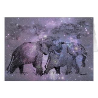 Tarjeta Elefantes en personalizable del invierno
