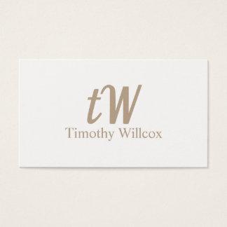 Tarjeta elegante clara y minimalista