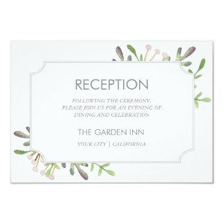 Tarjeta elegante de la recepción de la acuarela invitación 8,9 x 12,7 cm