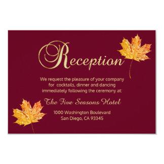 Tarjeta elegante de la RECEPCIÓN del oro de Invitación 8,9 X 12,7 Cm
