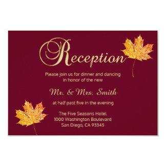 Tarjeta elegante de la recepción nupcial del oro invitación 8,9 x 12,7 cm