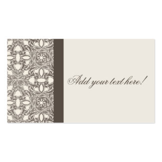 Tarjeta elegante de la recepción nupcial del tarjetas de visita