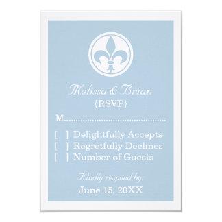 Tarjeta elegante de la respuesta de la flor de invitación 8,9 x 12,7 cm