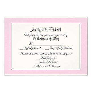 Tarjeta elegante de la respuesta del boda de la invitación 8,9 x 12,7 cm