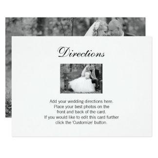 Tarjeta elegante de las direcciones de la foto del invitación 12,7 x 17,8 cm