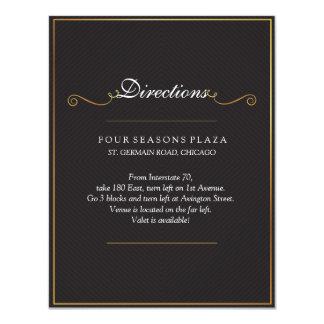 Tarjeta elegante de las direcciones del boda del invitación 10,8 x 13,9 cm