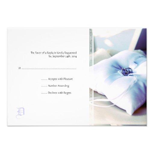 Tarjeta elegante de RSVP de la invitación del boda