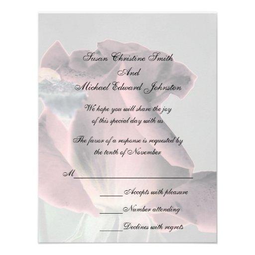 Tarjeta elegante de RSVP de la respuesta del boda  Invitaciones Personales