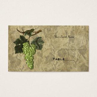 Tarjeta elegante del asiento de la tabla del boda