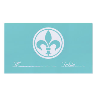 Tarjeta elegante del lugar de la flor de lis, tarjetas de visita