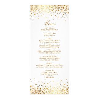 Tarjeta elegante del menú del falso de oro confeti invitación 10,1 x 23,5 cm