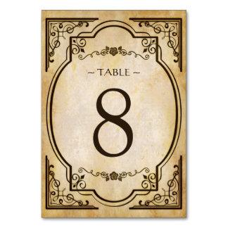 Tarjeta elegante del número de la tabla del boda
