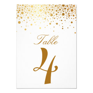 Tarjeta elegante del número de la tabla del falso invitación 12,7 x 17,8 cm