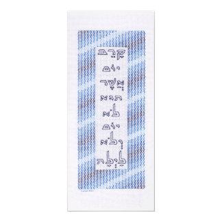 Tarjeta elegante del Passover Invitación 10,1 X 23,5 Cm
