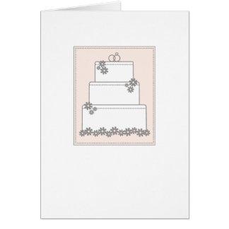 Tarjeta elegante del pastel de bodas - ruborícese