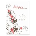 tarjeta elegante del perfil de Fleur de los rosas  Plantillas De Tarjetas Personales