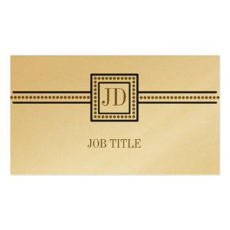 Tarjeta elegante del platino tarjetas de visita