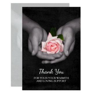 Tarjeta Elegante gracias por el rosa de la ayuda subió en