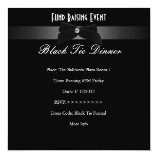 Tarjeta Elegante invite al lazo negro formal de la