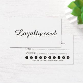 Tarjeta elegante minimalista de la lealtad del