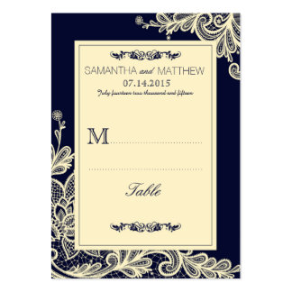 Tarjeta elegante moderna del lugar del boda del tarjetas de visita grandes