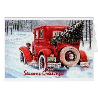 Tarjeta Elegir su propio árbol de navidad del vintage