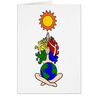 Tarjeta elemental pagana de la diosa de Sun