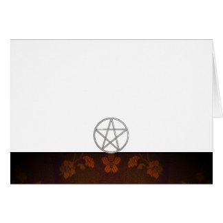 Tarjeta Elija su espacio en blanco de la tela de la pacana