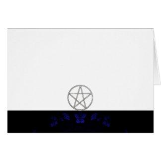 Tarjeta Elija su espacio en blanco de la tela del azul y