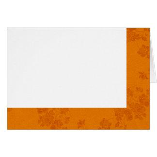 Tarjeta Elija su espacio en blanco de la tela del otoño