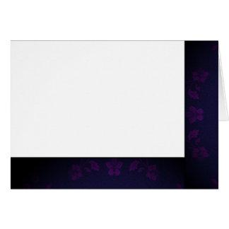 Tarjeta Elija su espacio en blanco negro y púrpura del