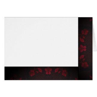 Tarjeta Elija su espacio en blanco negro y rojo del color