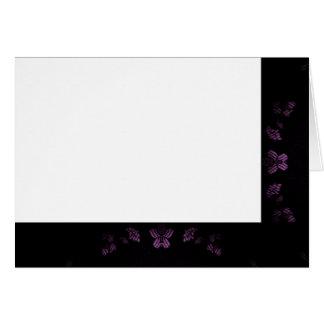 Tarjeta Elija su negro del color y espacio en blanco de la